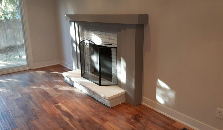 Fireplace makeover - Pyramid Home Improvement