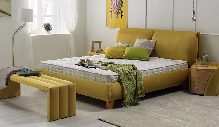 Yellow bedroom furniture set, Concord