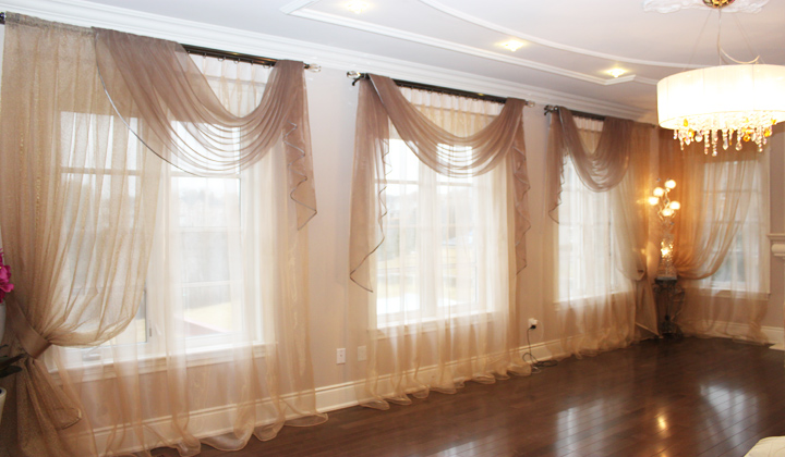 Family Room Sheer curtains custom order
