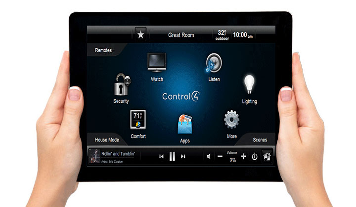 Intuitive touch panel interface, control your home from one device