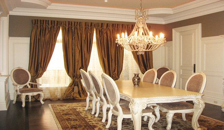Dining Room Custom Drapes Thornhill