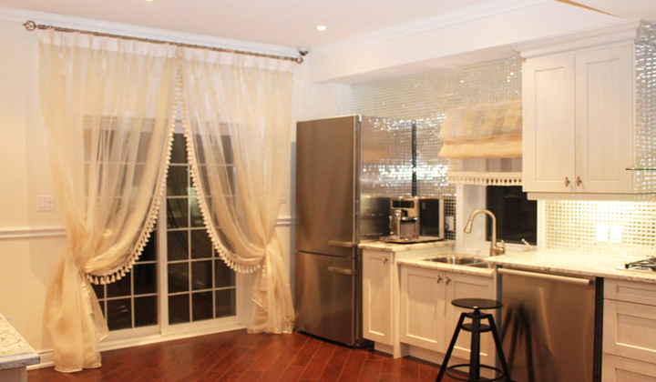 French Doors custom sheer curtains , Toronto