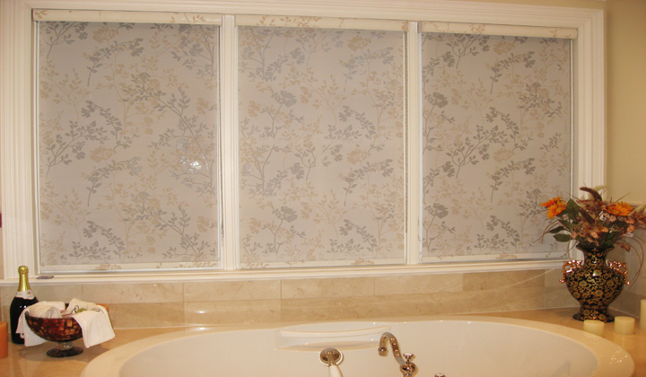 Custom fabric roller window coverings