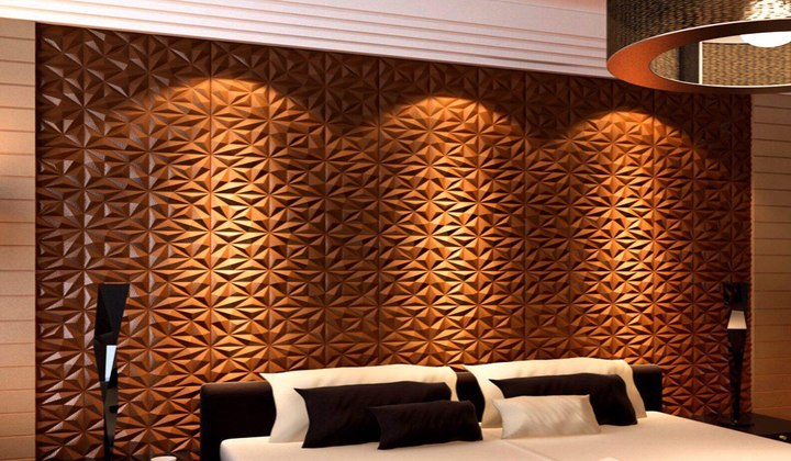 Artificial leather designer wall coverings