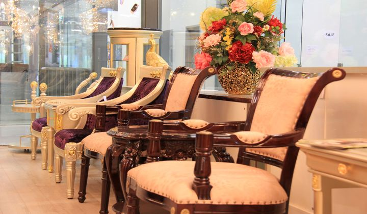 Luxury furniture at Wonder Home Lighting & Furniture, Improve Mall showroom