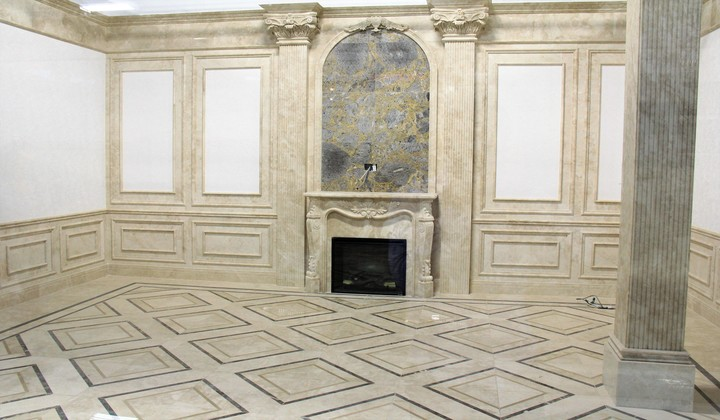 Marble design walls and floor by Zm Global, Improve Mall
