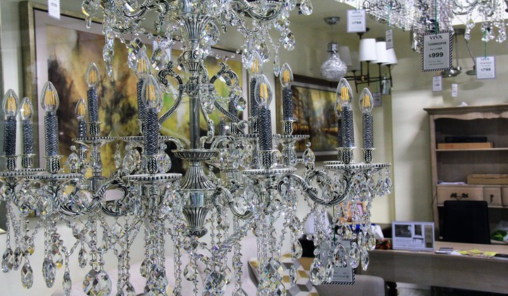 Crystal Light chandeliers at Viva Lifestyle store, Improve Mall