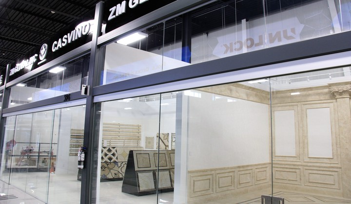 ZM Global showroom at Improve Mall, great selection of stone