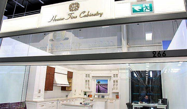 Houser Fine Cabinetry showroom at Improve Canada Mall