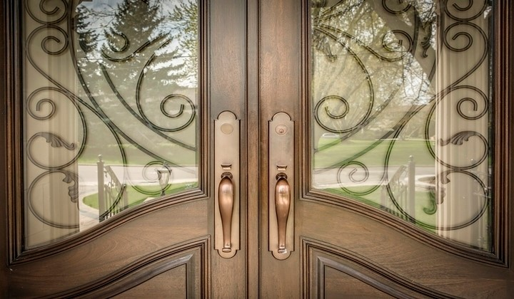 Solid wood hand crafted exterior doors by Master Doors