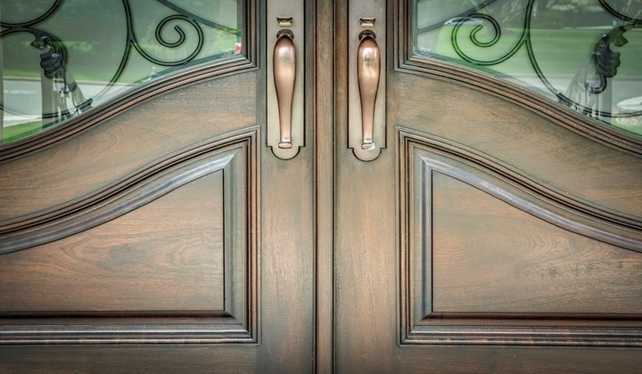 Custom fit exterior doors made of solid wood by Master Doors