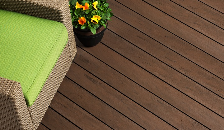 Tropical Walnut Composite Deck Colour