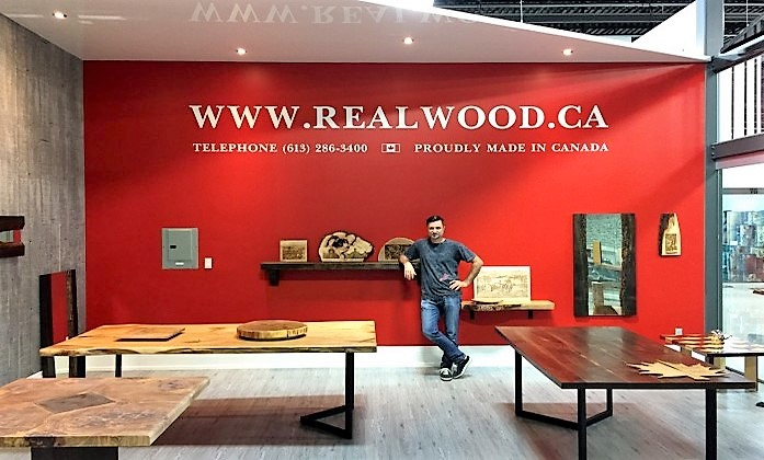 Realwood showroom at Improve Canada Mall