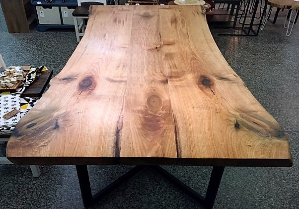 Solid piece wood dining table