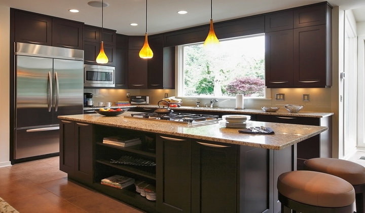 Modern Wood European-Style Kitchen Cabinets