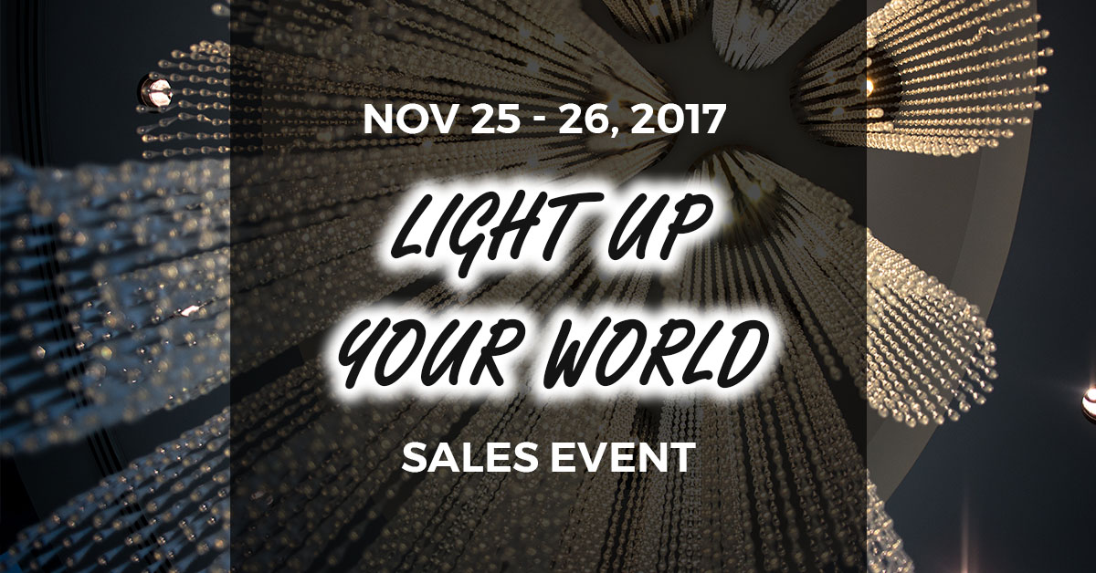 Light Up Your World Sales Event