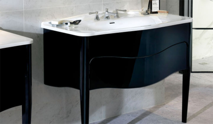 Single sink luxury bathroom vanity