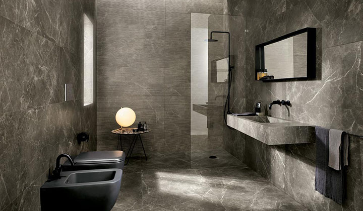 Porcelain and ceramic wall and floor tiles
