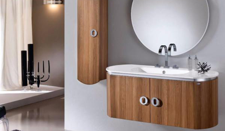 Bathroom vanity with soft and enveloping lines can match with any classic or modern environments