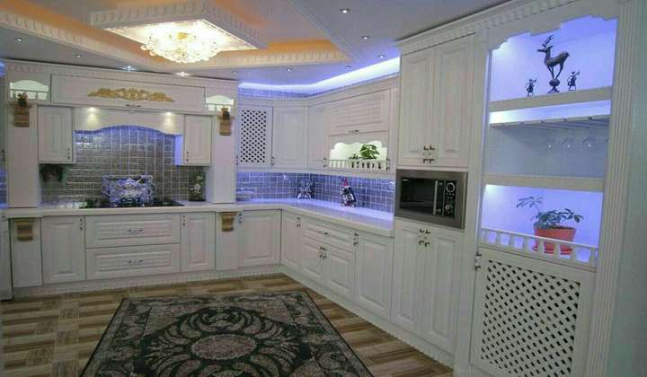 Led Light Custom Kitchen project by Star Woodworking