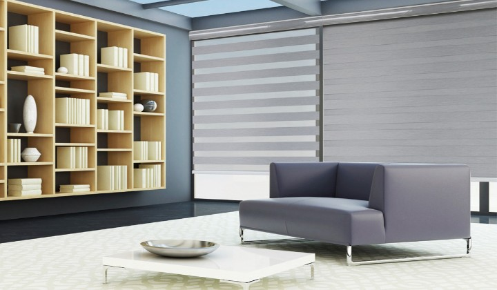 Custom shades and blinds by V + Homes