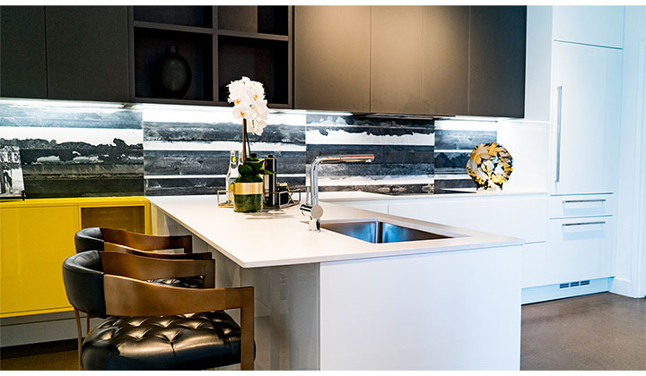 Georgian's Modern Custom Kitchen, designed by Scavolini