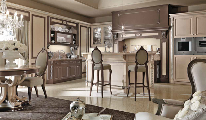 Classic style, real wood designer kitchen from Italy by Martini Mobili