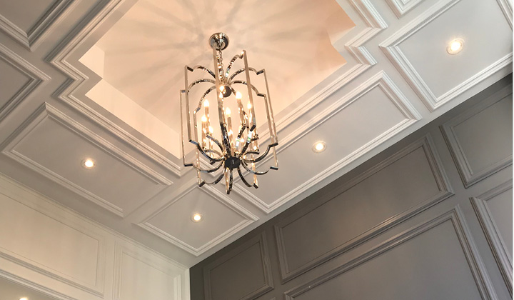 Custom Ceiling Design by Masamo Design, GTA