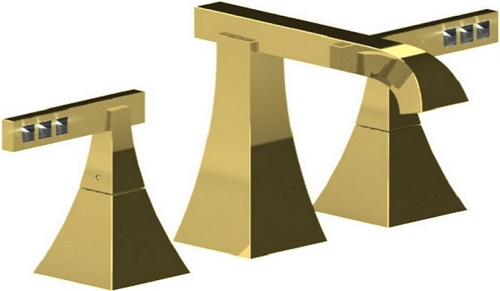 RUBINET Gold Faucet - Pyramid Showroom
