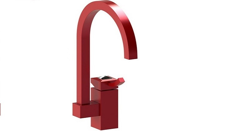 RUBINET Red Kitchen Faucet - Pyramid Showroom