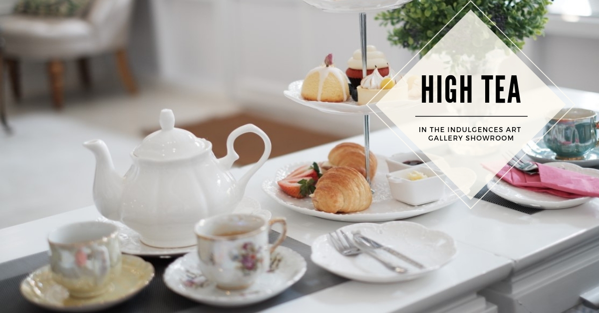 High Tea in the Indulgences Art Gallery