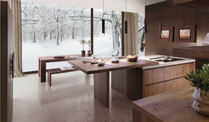 Solid wood Italian designer kitchen
