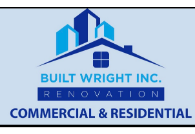 Built wright  Inc. Renovation Logo