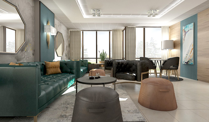 Casual condo party room design project, by The House of Interior Design, Vaughan