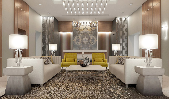 Condo Lobby Design Project, by The House of Interior Design, Vaughan