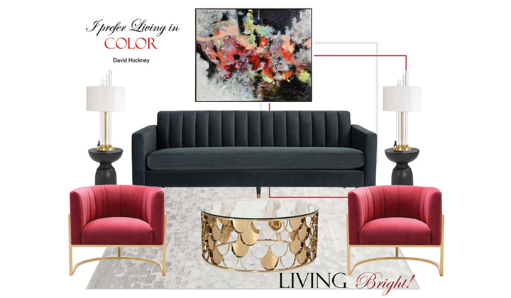 Living Room Design Concept, by The House of Interior Design, Vaughan