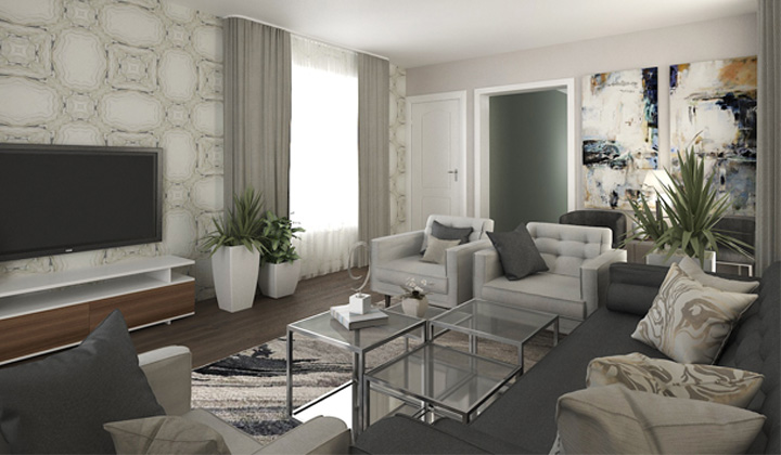 Living Room Design Project, by The House of Interior Design, Vaughan