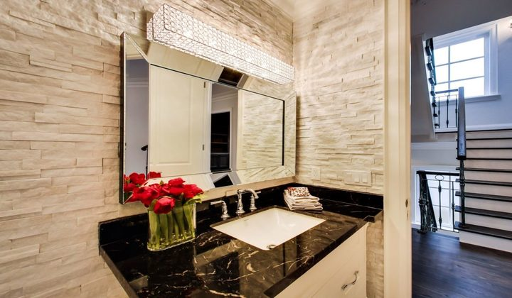 Powder room renovation by Great 6 Contracting