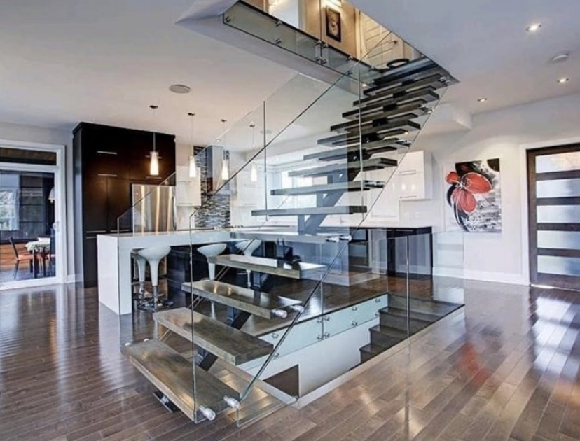 Urban Glass Railings - Floating Stairs and Glass Railings