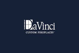DaVinci Custom Fireplaces. Logo