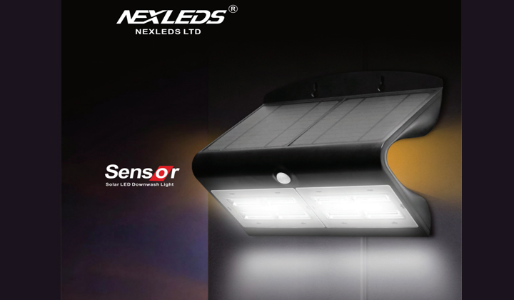 NEXLEDS Sensor Solar LED Downwash Light
