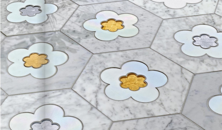 Flower Marble Mosaic Tiles Design by Artistic Mosaic Tiles, Toronto