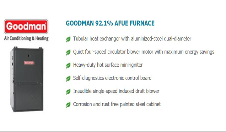 Consumers Energy Management sale and install both heating and cooling products by Goodman.