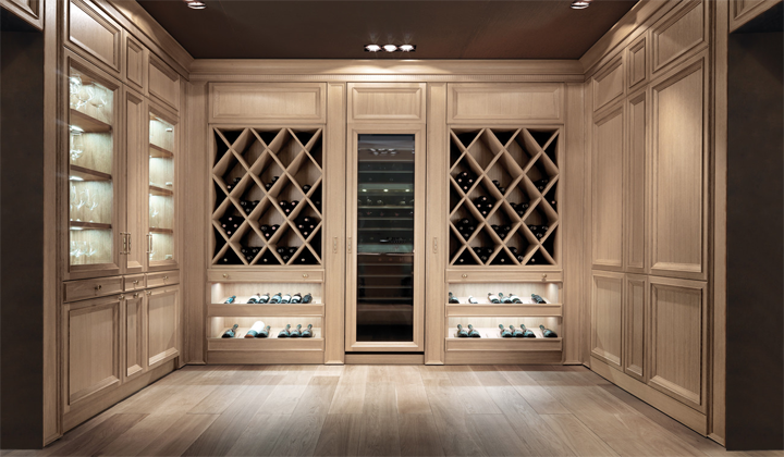 Italian Made Wine Cellar by Castagna Cucine, Tuscany Collection, Toronto