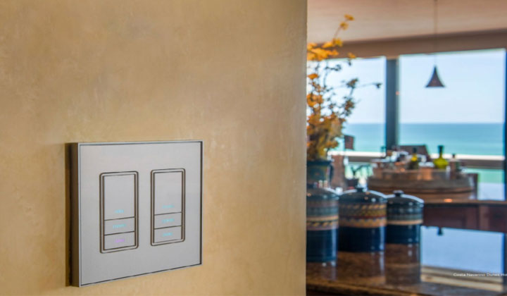 Easy Touch Glass Lighting Control Keypad by Vantage Controls