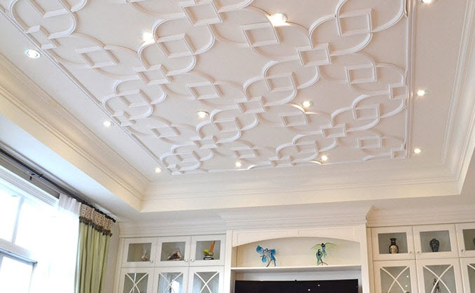 Say Goodbye to Your Popcorn Ceiling with Glue-Up Ceiling Tiles